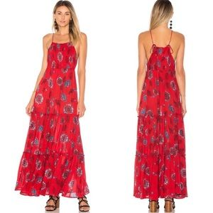 NWT Free People Garden Party Maxi Red Combo